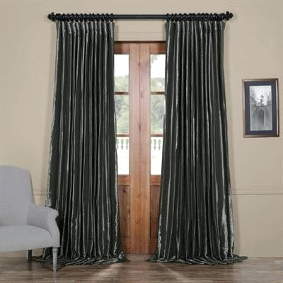 Faux Silk Taffeta Curtains – Garettgroves Intended For Faux Silk Taffeta Solid Blackout Single Curtain Panels (View 18 of 50)