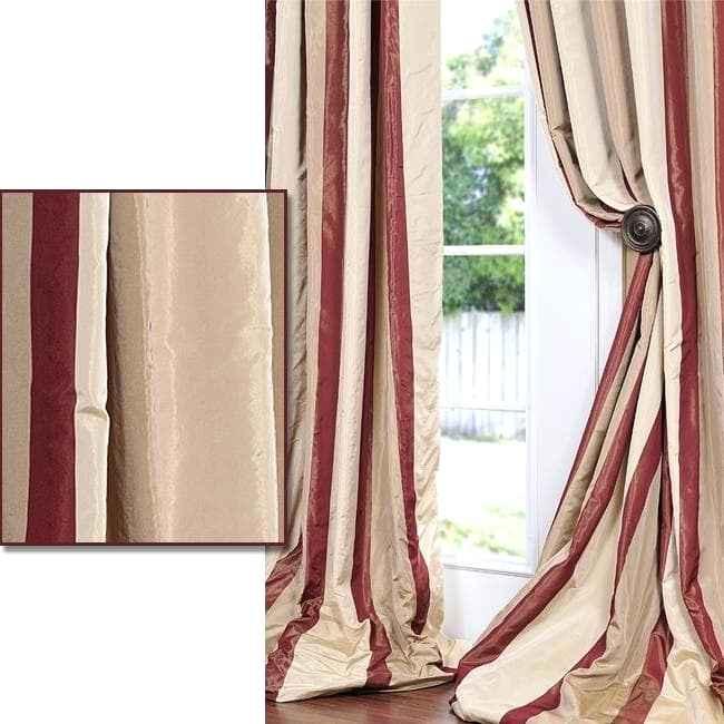Faux Silk Taffeta Curtains – Mike In Brazil Regarding Faux Silk Extra Wide Blackout Single Curtain Panels (View 35 of 50)