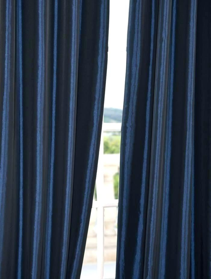 Faux Silk Taffeta Curtains Ruched Thermal Rod Pocket Single With Faux Silk Taffeta Solid Blackout Single Curtain Panels (View 16 of 50)