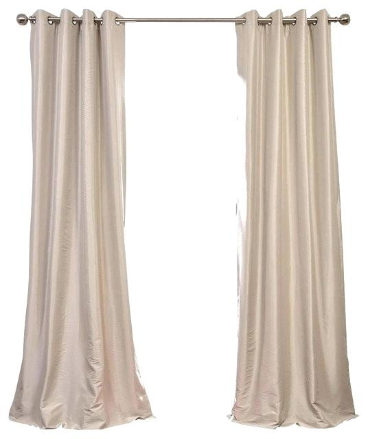 Faux Silk Taffeta Curtains – Sevenseasindia (View 20 of 50)
