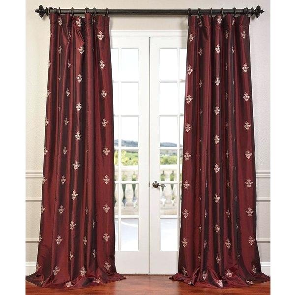Faux Silk Taffeta Curtains – Sevenseasindia (View 36 of 50)