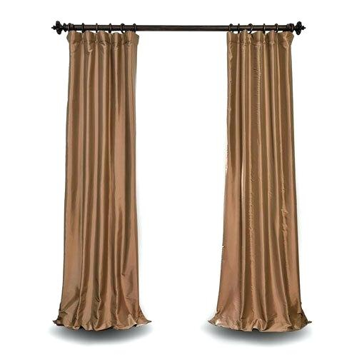 Faux Silk Taffeta Curtains Welby Printed Blackout Single Pertaining To Faux Silk Extra Wide Blackout Single Curtain Panels (View 32 of 50)