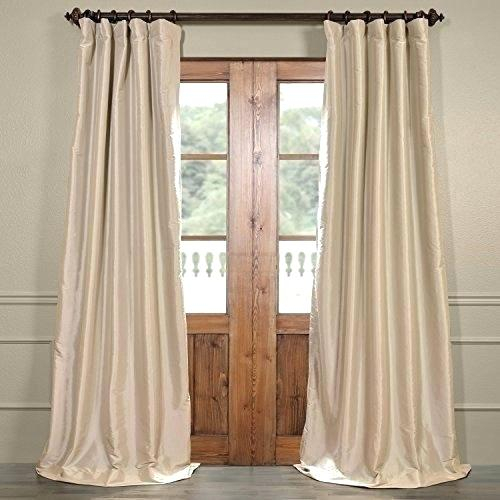 Faux Silk Taffeta Solid Blackout Curtain Panel – Topplace (#15 of 50)