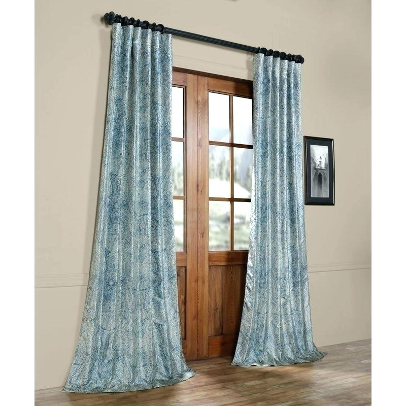 Faux Silk Taffeta Solid Blackout Curtain Panel – Topplace (View 21 of 50)
