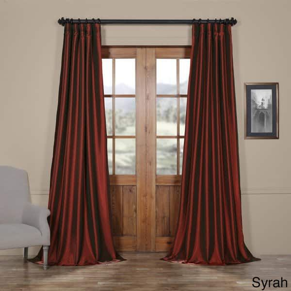 Faux Silk Taffeta Solid Blackout Single Curtain Panel | For Intended For Faux Silk Taffeta Solid Blackout Single Curtain Panels (View 24 of 50)