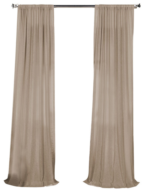 """Fauxlinen Sheer Curtain Single Panel, Vintage Peony, 50""""x84"""" Pertaining To Montpellier Striped Linen Sheer Curtains (View 7 of 50)"""