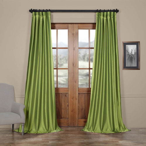 Fern Faux Silk Taffeta Single Panel Curtain, 50 X 96 With Regard To Faux Silk Taffeta Solid Blackout Single Curtain Panels (View 27 of 50)