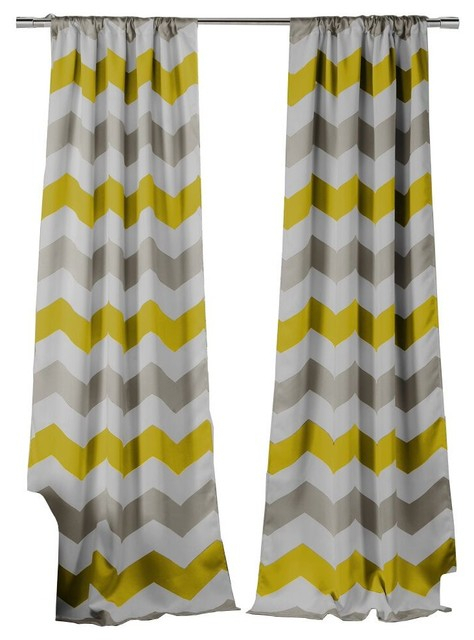 Fifferly Blackout Pole Top Pair Panel, Set Of 2, Gray Yellow White Pertaining To Edward Moroccan Pattern Room Darkening Curtain Panel Pairs (View 16 of 50)
