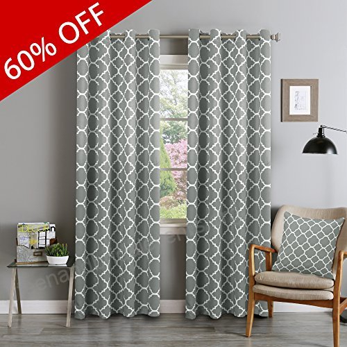 Flamingop Light Blocking Moroccan Insulated Blackout Drapes With Regard To Moroccan Style Thermal Insulated Blackout Curtain Panel Pairs (View 35 of 50)