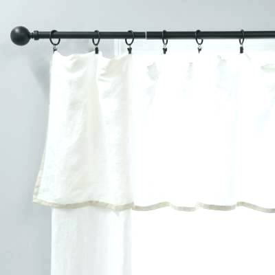 Flax Linen Curtains Curtain With Bordered Valance Sheer With Regard To Belgian Sheer Window Curtain Panel Pairs With Rod Pocket (View 30 of 46)