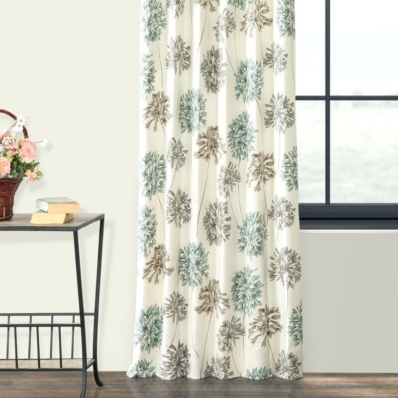 Floral Curtain Panels Heartwood Sheer Rod Pocket Product Inside Oakdale Textured Linen Sheer Grommet Top Curtain Panel Pairs (#14 of 41)