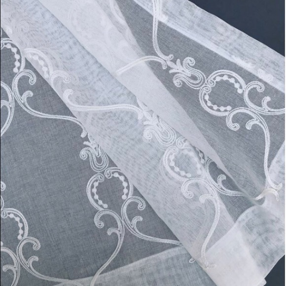 Floral Embroidered Sheer Curtain Panel Throughout Kida Embroidered Sheer Curtain Panels (View 36 of 50)