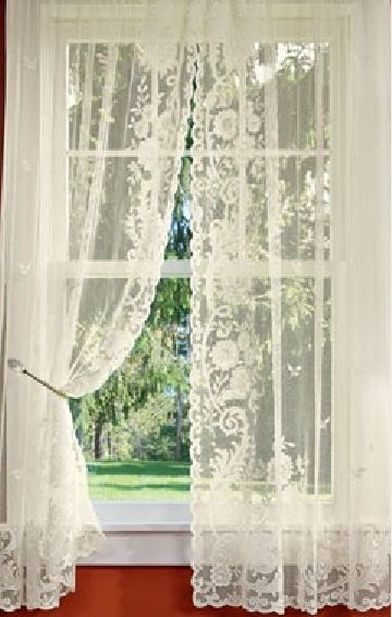 Floral Point Lace Rod Pocket Curtains – Via Country Curtains With Regard To Luxurious Old World Style Lace Window Curtain Panels (View 11 of 50)
