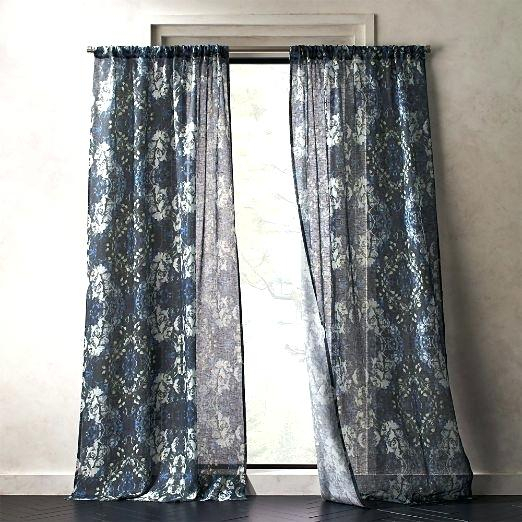 Floral Print Curtains Within Grey Printed Curtain Panels (View 14 of 48)