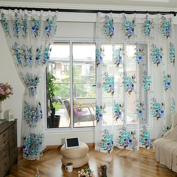 Floral Sheer Curtains – Avalon Master (View 17 of 46)