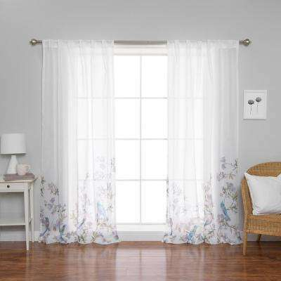 Floral Sheer Curtains – Avalon Master (View 18 of 46)