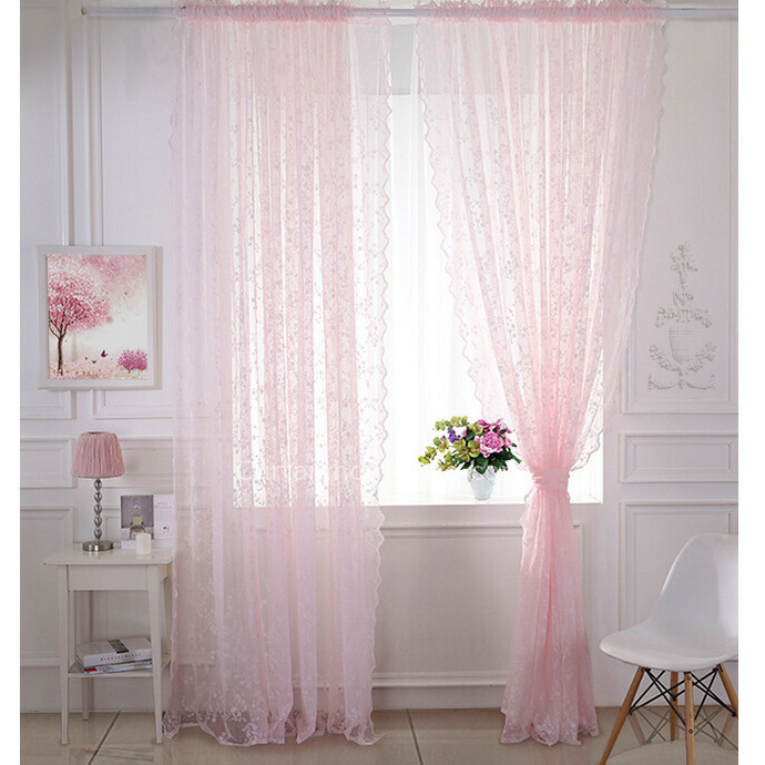 Floral Sheer Curtains – Avalon Master (#27 of 45)