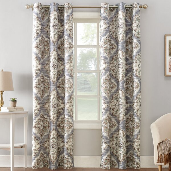 Floral Water Colour Curtains | Wayfair (View 20 of 46)