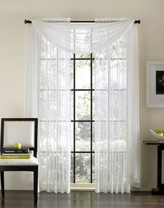 Flowy Chiffon Curtains With Long Valance   Curtains, Home Throughout Luxury Collection Venetian Sheer Curtain Panel Pairs (#17 of 36)