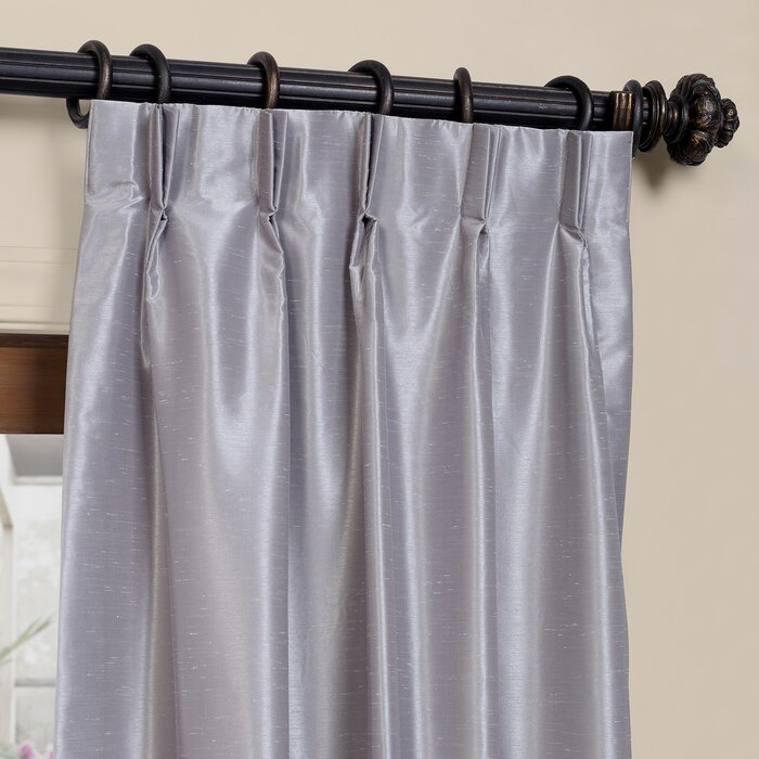 Forbell Solid Blackout Vintage Textured Faux Dupioni Thermal Pinch Pleat Single Curtain Panel In Storm Grey Vintage Faux Textured Dupioni Single Silk Curtain Panels (View 24 of 50)