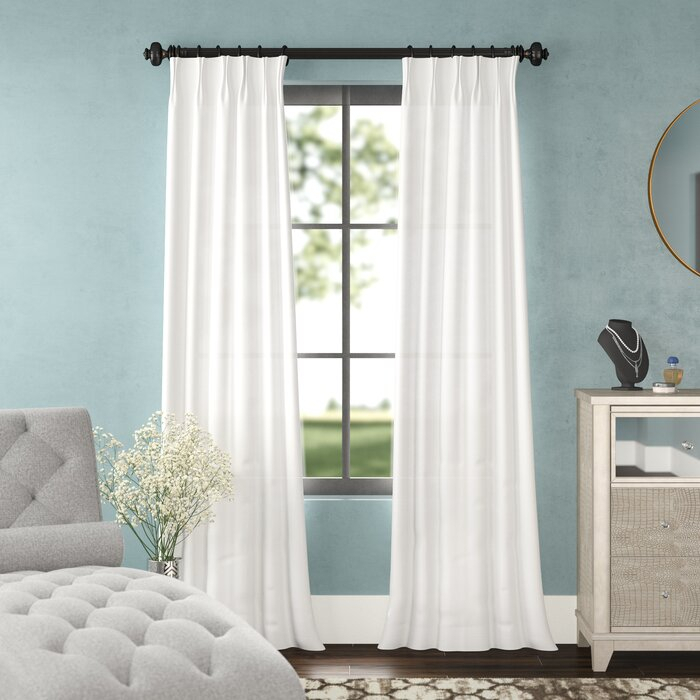 Forbell Solid Blackout Vintage Textured Faux Dupioni Thermal Pinch Pleat  Single Curtain Panel In Vintage Textured Faux Dupioni Silk Curtain Panels (#33 of 50)