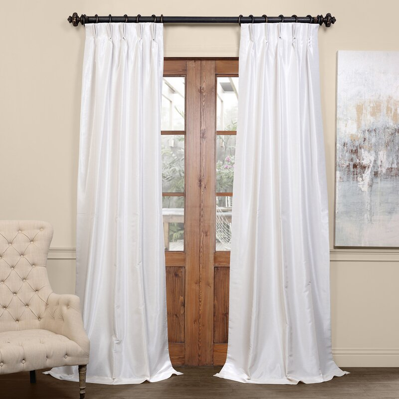 Forbell Solid Blackout Vintage Textured Faux Dupioni Thermal Pinch Pleat Single Curtain Panel Regarding Storm Grey Vintage Faux Textured Dupioni Single Silk Curtain Panels (View 14 of 50)