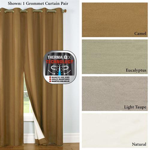 Four Seasons Thermalogic(Tm) Blackout Grommet Curtains In All Seasons Blackout Window Curtains (View 29 of 48)