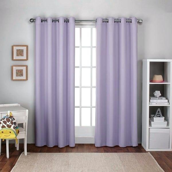 Four Shades Of Lavender Square Blackout Curtain Curtains In Embossed Thermal Weaved Blackout Grommet Drapery Curtains (View 21 of 42)