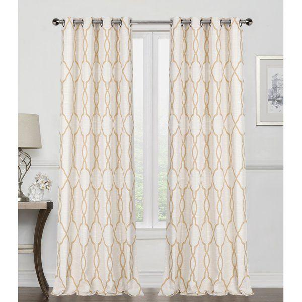 France Reversible Geometric Room Darkening Thermal Grommet With Regard To Kaiden Geometric Room Darkening Window Curtains (View 18 of 39)
