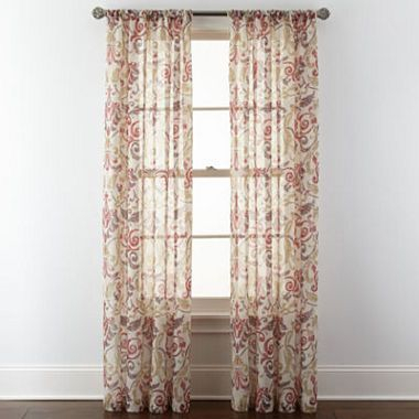 Free Shipping Available! Buy Royal Velvet® Villa Rod Pocket Pertaining To Ladonna Rod Pocket Solid Semi Sheer Window Curtain Panels (View 12 of 47)