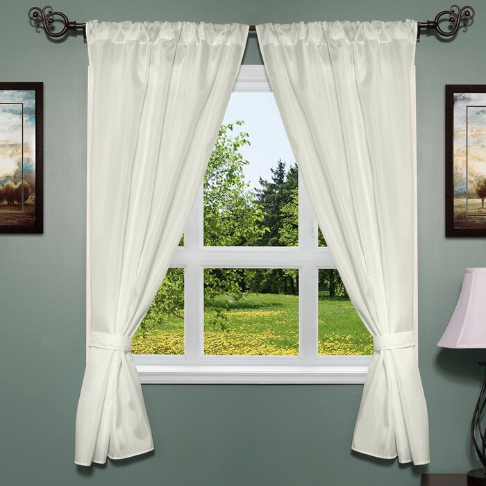 Freemanstown Classic Window Treatment Set Intended For Classic Hotel Quality Water Resistant Fabric Curtains Set With Tiebacks (#17 of 50)