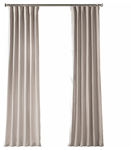 """French Linen Curtain Single Panel, Earl Gray, 50""""x96"""" In Signature French Linen Curtain Panels (#18 of 50)"""
