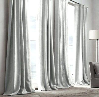 French Pleat Curtains Restoration Hardware Textured Linen Regarding Signature French Linen Curtain Panels (#19 of 50)
