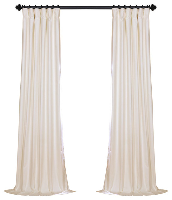 "Fresh Popcorn Solid Cotton Blackout Curtain Single Panel, 50""x84"" Within Solid Cotton Curtain Panels (#25 of 47)"