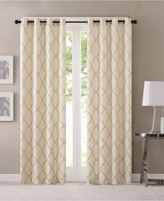 Fretwork Panels – Shopstyle For Laya Fretwork Burnout Sheer Curtain Panels (View 19 of 38)