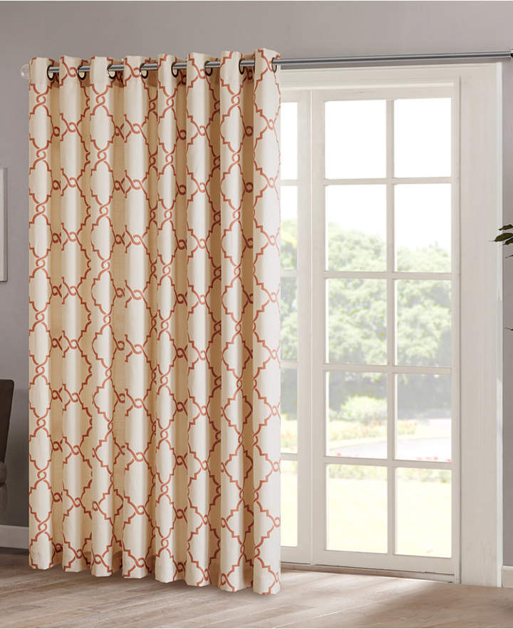 Fretwork Panels – Shopstyle Within Essentials Almaden Fretwork Printed Grommet Top Curtain Panel Pairs (#12 of 38)