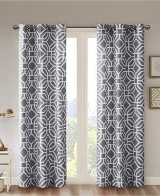 Fretwork Panels – Shopstyle Within Essentials Almaden Fretwork Printed Grommet Top Curtain Panel Pairs (#13 of 38)