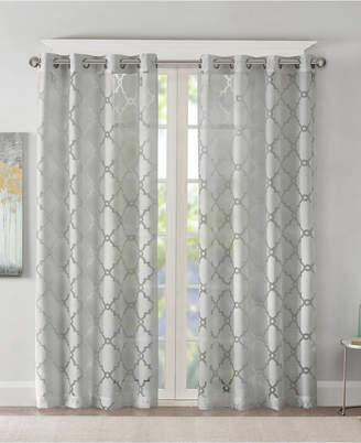 Fretwork Panels – Shopstyle Within Essentials Almaden Fretwork Printed Grommet Top Curtain Panel Pairs (#11 of 38)