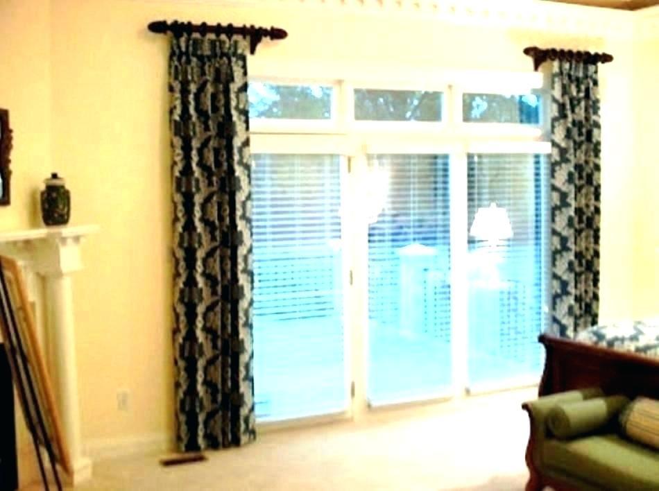 Front Door Curtain Rod – Handelcattle With Regard To Inez Patio Door Window Curtain Panels (#17 of 50)