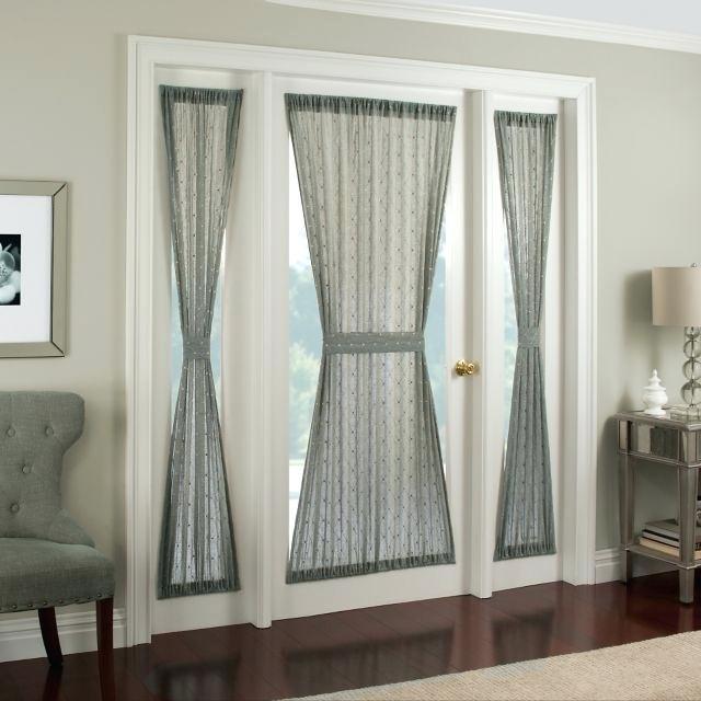 Front Door Curtains Back Sliding Glass Patio Window Small Regarding Inez Patio Door Window Curtain Panels (#18 of 50)