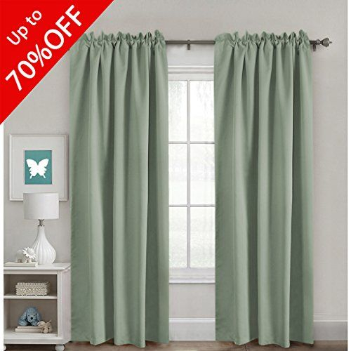 Full Blackout Curtains Back Tab Rod Pocket Top Thermal Throughout Riley Kids Bedroom Blackout Grommet Curtain Panels (#9 of 28)