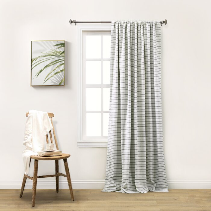 Gadd Striped Blackout Thermal Rod Pocket Single Curtain Panel Regarding Ombre Stripe Yarn Dyed Cotton Window Curtain Panel Pairs (View 15 of 31)