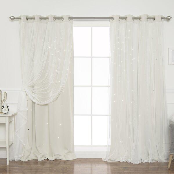 Galaxy Curtains | Wayfair In Infinity Sheer Rod Pocket Curtain Panels (#11 of 50)