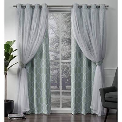 Gardinen & Vorhänge Und Andere Wohntextilien Von Exclusive Intended For Sateen Woven Blackout Curtain Panel Pairs With Pinch Pleat Top (#10 of 40)