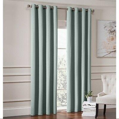 "Garland 84"" L, 1 Lined Grommet Top Room Darkening Curtain Panel – Spa For Grommet Room Darkening Curtain Panels (View 17 of 50)"