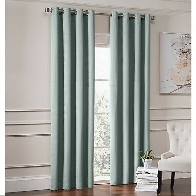 Garland Lined Grommet Top Room Darkening Window Curtain Panel In Spa  80995586222 | Ebay Regarding Lined Grommet Curtain Panels (#15 of 31)