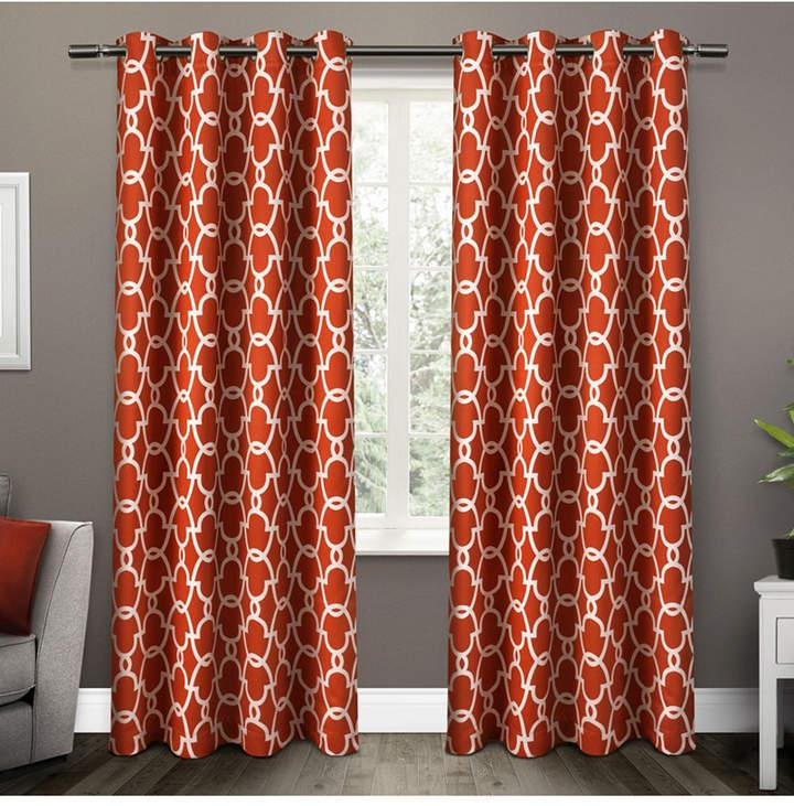 Gates Sateen Woven Blackout Grommet Top Curtain Panel Pair In Woven Blackout Curtain Panel Pairs With Grommet Top (#27 of 42)