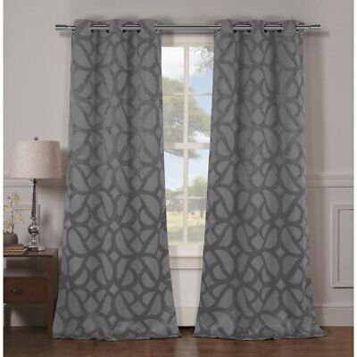 Geometric Blackout Grommet Curtain Panels – Nwot – $ (View 19 of 40)