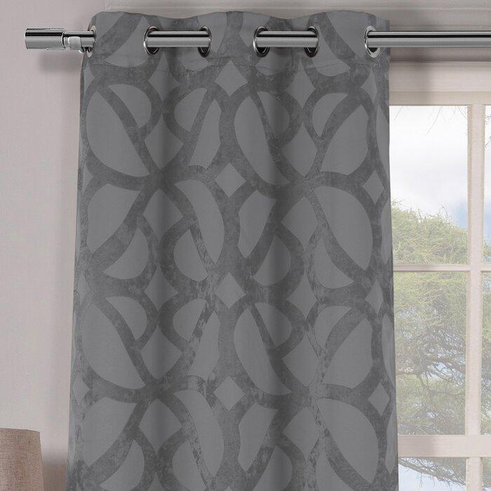 Geometric Blackout Grommet Curtain Panels Pertaining To Blackout Grommet Curtain Panels (View 20 of 40)