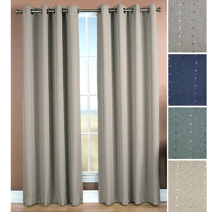 Geometric Blackout Thermal Grommet Curtain Panels Curtains For Geometric Print Textured Thermal Insulated Grommet Curtain Panels (View 20 of 45)